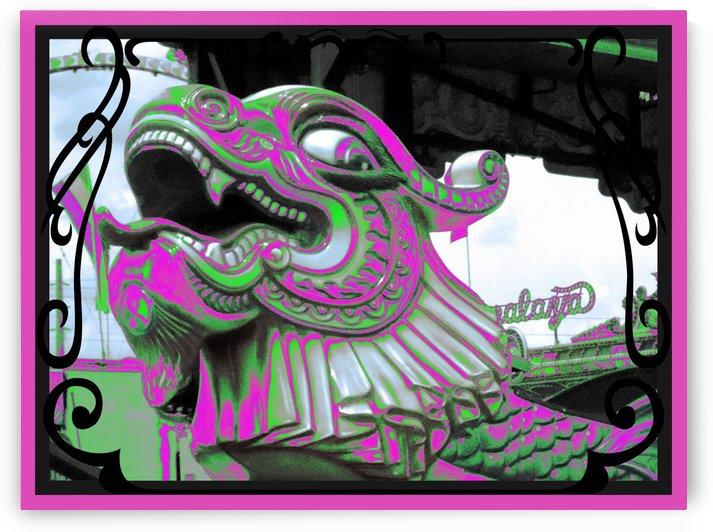 Carnival Creature in Purple & Green by Jayne Somogy