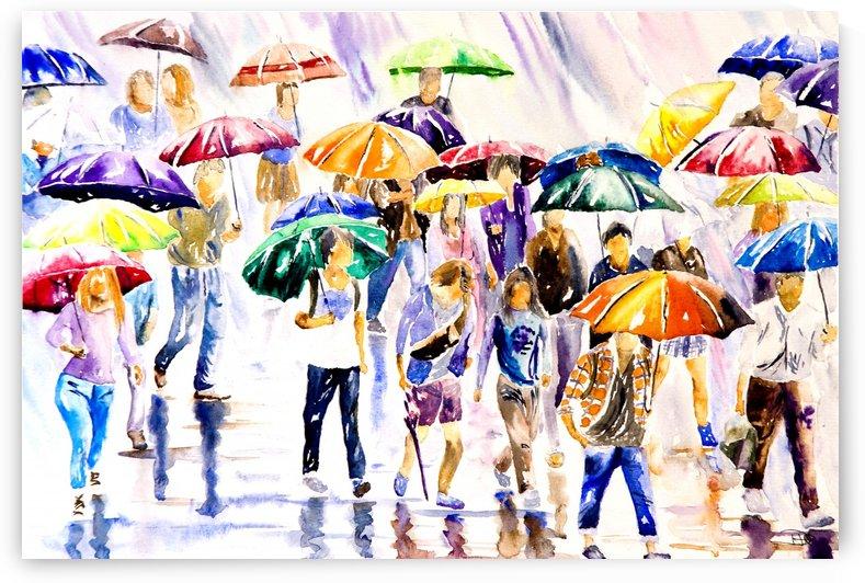 Raining in the Rush Hour  by DHWebbArt