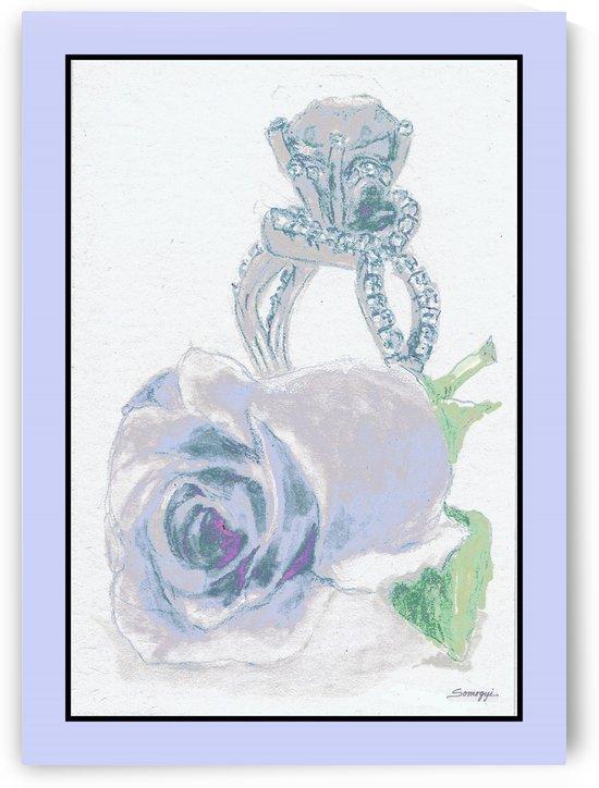 Blue Bud in Frame by Jayne Somogy
