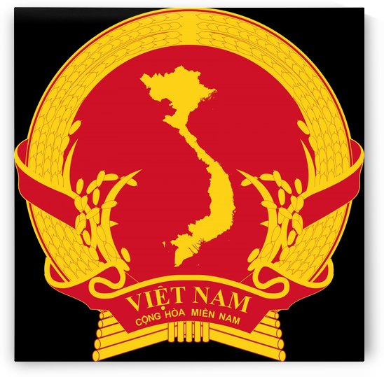 Provisional Revolutionary Government of the Republic of South Vietnam Emblem 1969-1976 by Fun With Flags