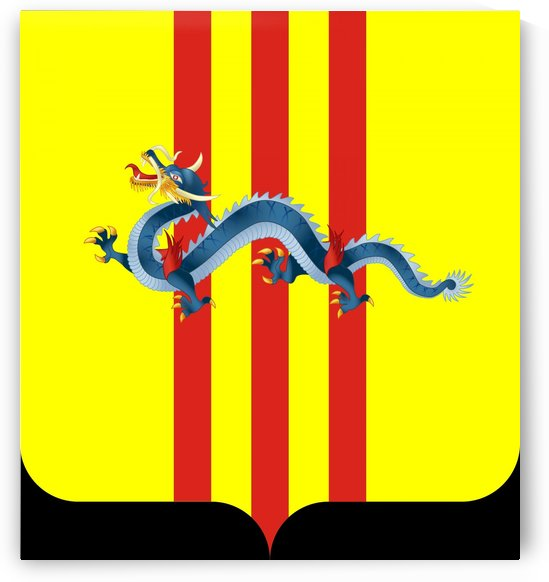 South Vietnam Coat of Arms 1954–1955 by Fun With Flags