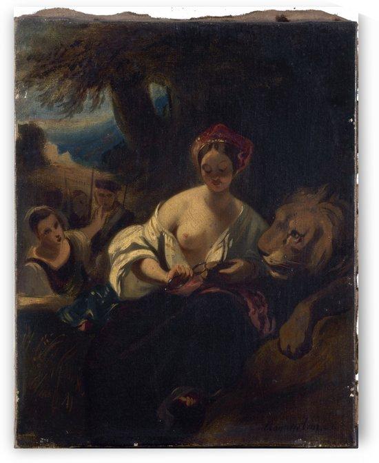Le lion amoureux by Camille Joseph Etienne Roqueplan