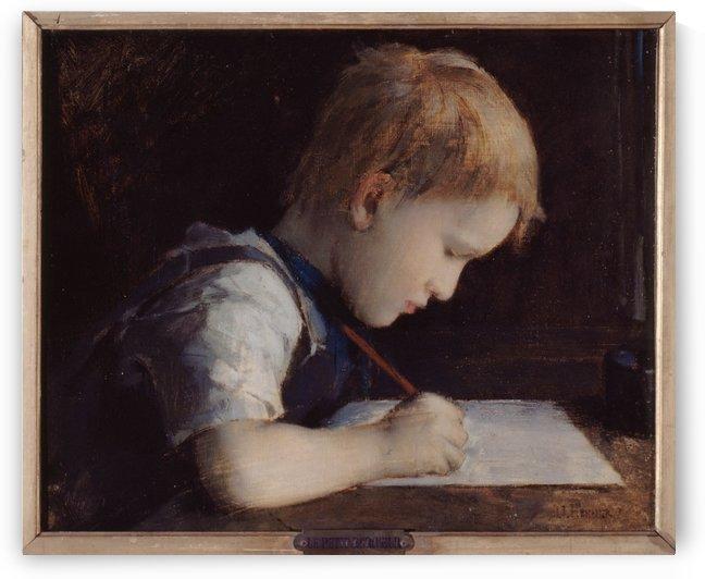 Le petit eriveur by Jean-Jacques Henner