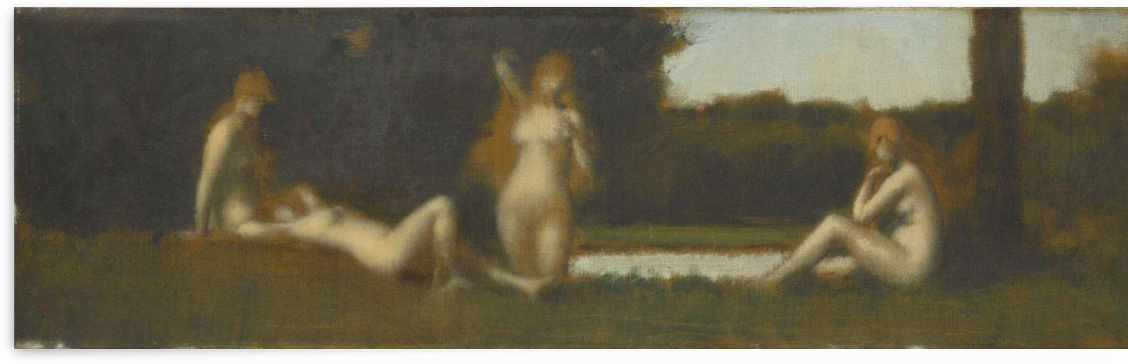 Nymphes a la sortie du bain by Jean-Jacques Henner