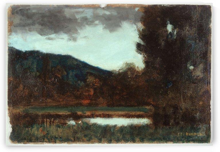 Paysage d Alsace crepuscule by Jean-Jacques Henner