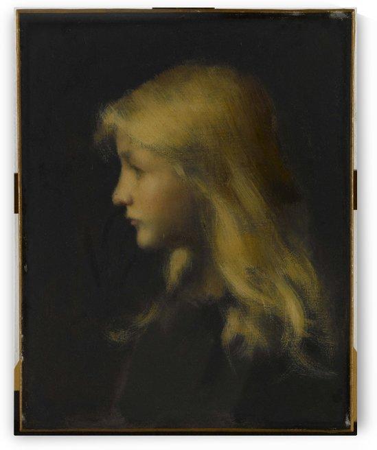 Fillette blonde by Jean-Jacques Henner