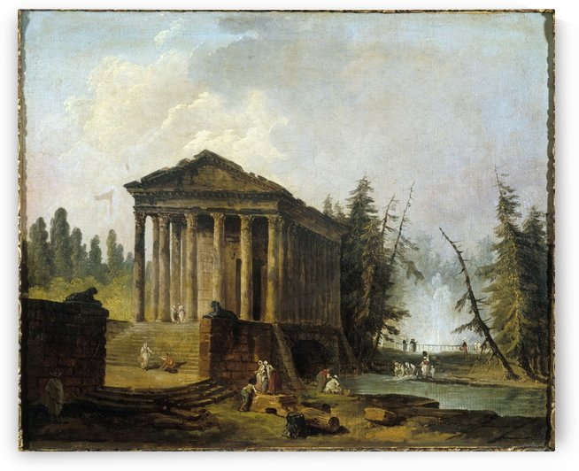 Le Temple antique by Hubert Robert