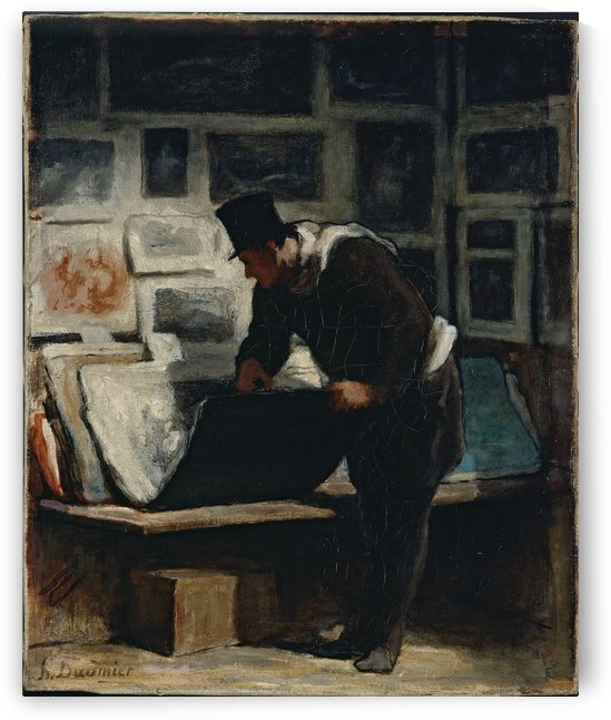 L amateur d estampes by Honore Daumier