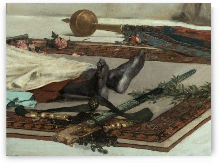 Le jour des funerailles Scene du Maroc by Jean-Joseph Benjamin-Constant