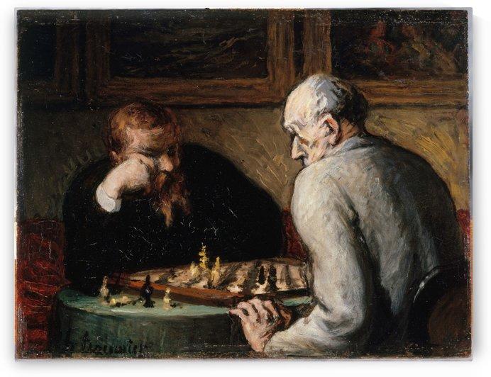 Joueurs d echecs by Honore Daumier