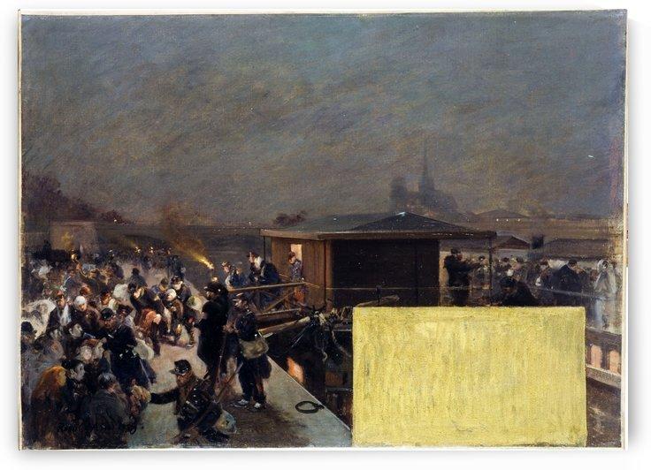 Esquisse pour le cabinet du prefet a l Hotel de Ville Debarquement des blesses de Champigny by Arus, Raoul