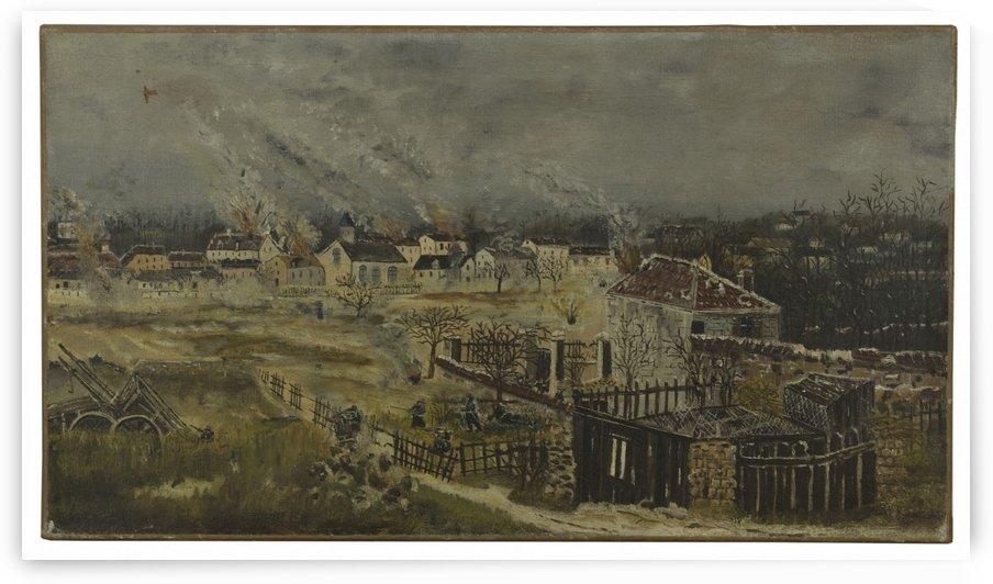 Bataille de Champigny Episode de la guerre de 1870 by Henri Rousseau