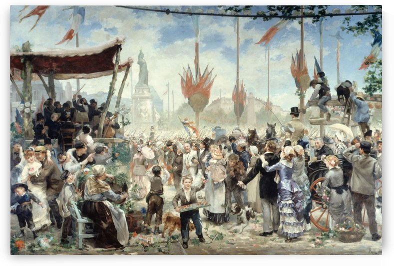 14 Juillet 1880 inauguration du monument a la Republique by Alfred Philippe Roll