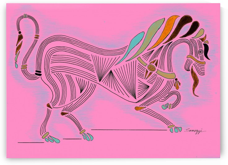 RARIN' TO GO--Bright on Hot Pink by Jayne Somogy