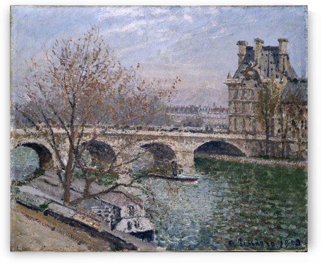 Le Pont Royal et le Pavillon de Flore by Camille Pissarro