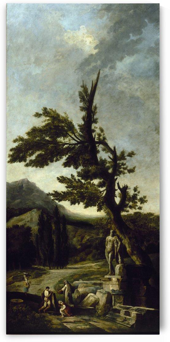 Hercule Farnese by Hubert Robert