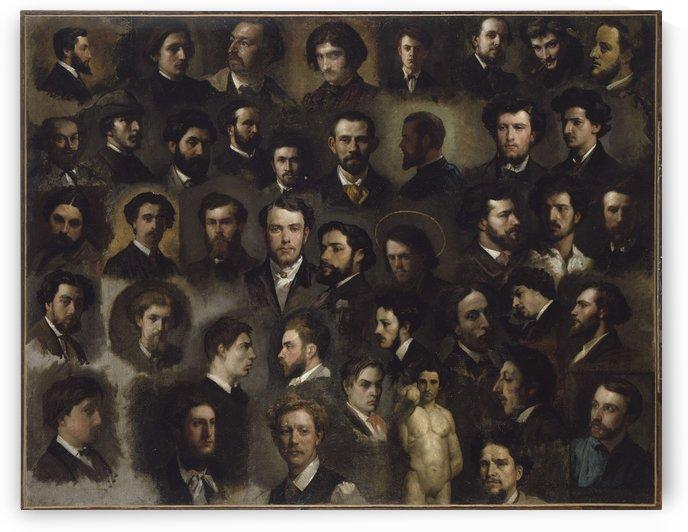 Quarante-trois portraits de peintres de l atelier Gleyre by Anonyme