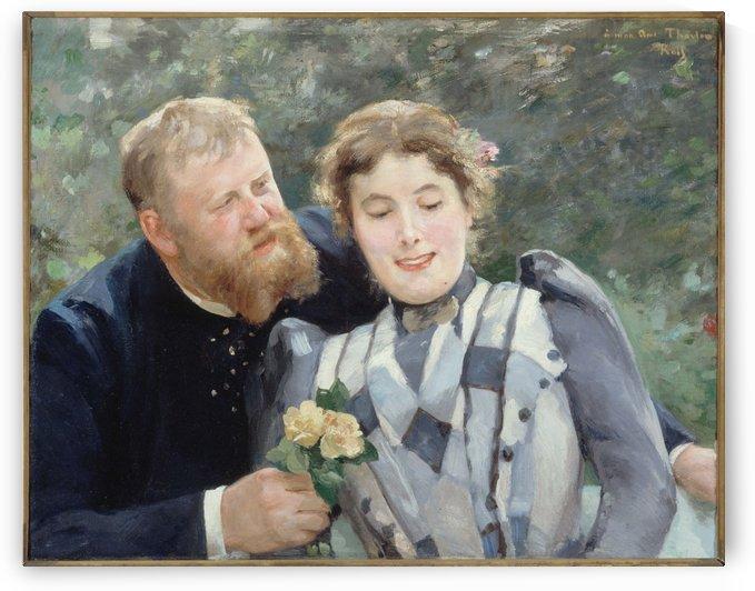 Portrait de Thaulow et sa femme by Alfred Philippe Roll