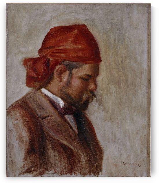 Portrait d Ambroise Vollard au foulard rouge by Auguste Renoir