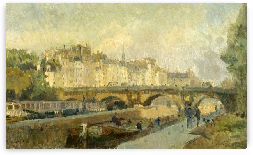 Le Pont Neuf by Albert Charles Lebourg