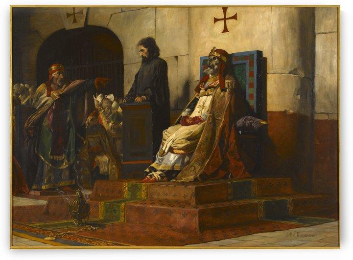 Le jugement du pape Formose by Jean-Paul Laurens