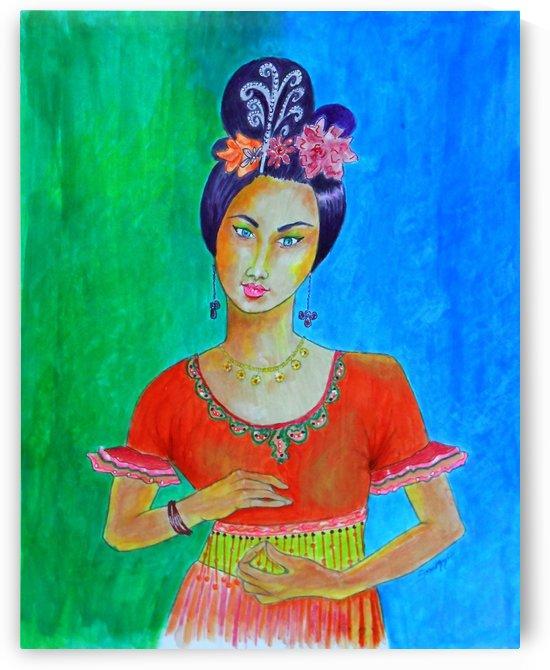 Chinese Dancer by Jayne Somogy