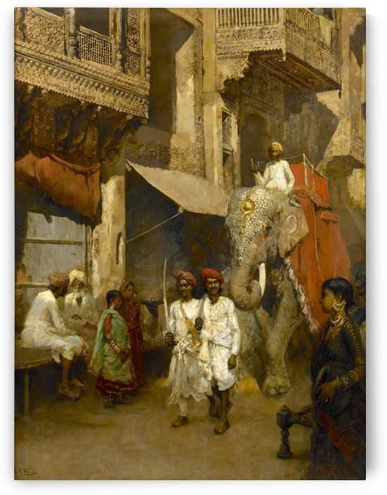 Promenade on an Indian Street by Edwin Lord Weeks