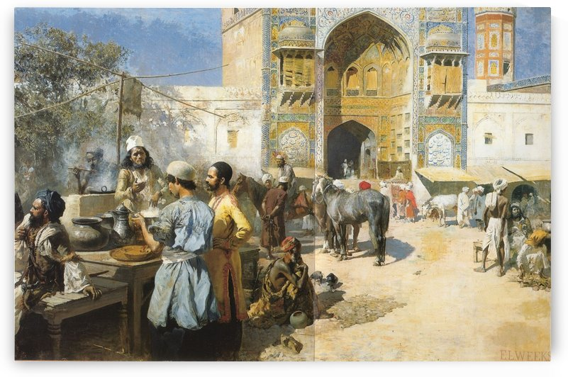 An Open-Air Restaurant Lahore by Edwin Lord Weeks