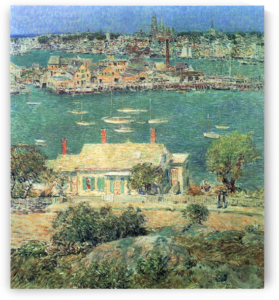 The port of Gloucester -2- by Hassam by Hassam