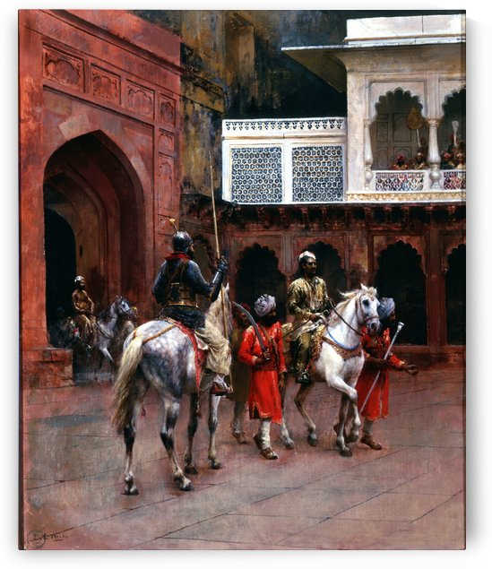 Indian Prince, Palace of Agra by Edwin Lord Weeks