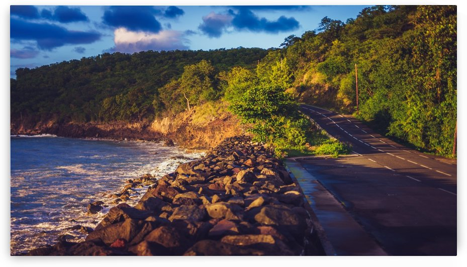 ROAD AND SUNSET  by Ismael VERDOL