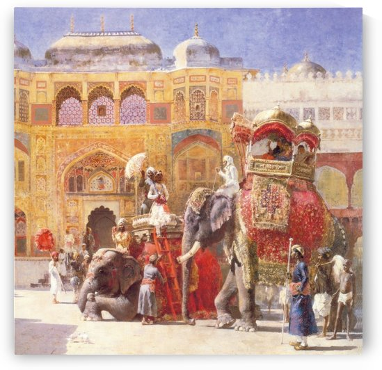 Arrival of Prince Humbert, the palace of Amber by Edwin Lord Weeks