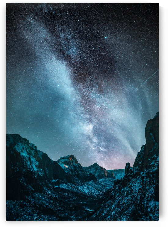 Blue Milky Way At Night by Okan28