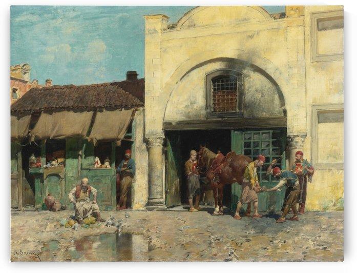 Oriental market by Leopold Carl Muller