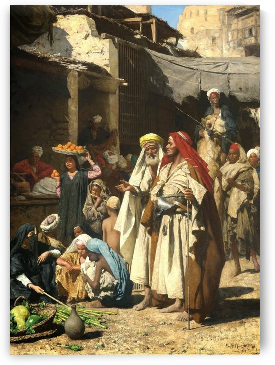 A walk in the market by Leopold Carl Muller