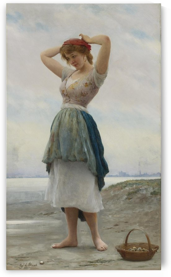 On the Beach by Eugene de Blaas