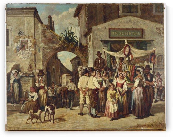 Marchands ambulants a Tivoli by Auguste Dutuit
