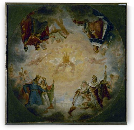 Esquisse pour le Pantheon eglise Sainte Genevieve Gloire des dynasties royales et imperiales devant sainte Genevieve by Antoine Gros