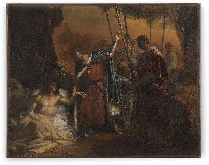 Esquisse pour l eglise Saint Louis d Antin Saint Louis malade visitant les soldats atteints de la peste by Jean-Bruno Gassies