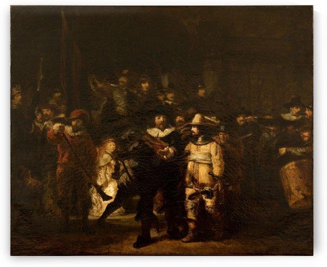 La Ronde de nuit d apres Rembrandt by Félix Ziem