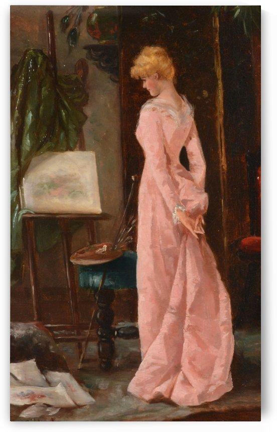 Elegant lady by Eugene de Blaas