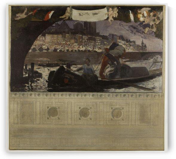 Esquisse pour la mairie du 4eme le 14 juillet 1880 by Albert Besnard