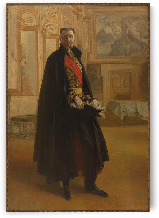 Portrait de Camille Barrere au palais Farnese by Albert Besnard