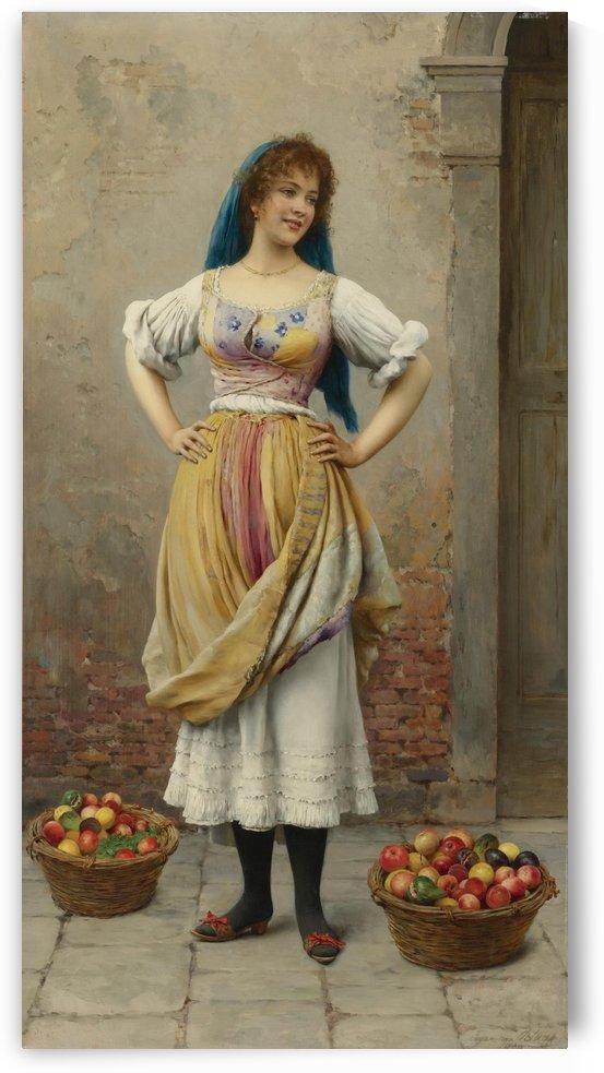 The market girl by Eugene de Blaas