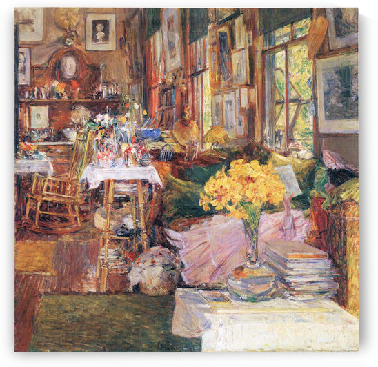 The room of flowers by Hassam by Hassam