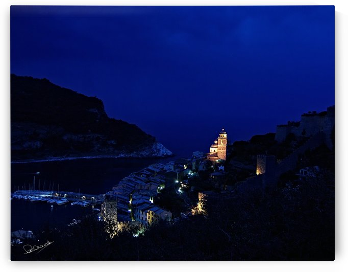 Portovenere at Night by Shadow and Form