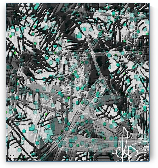 Acid Rain on Smoke Stained Tin by Ed Purchla