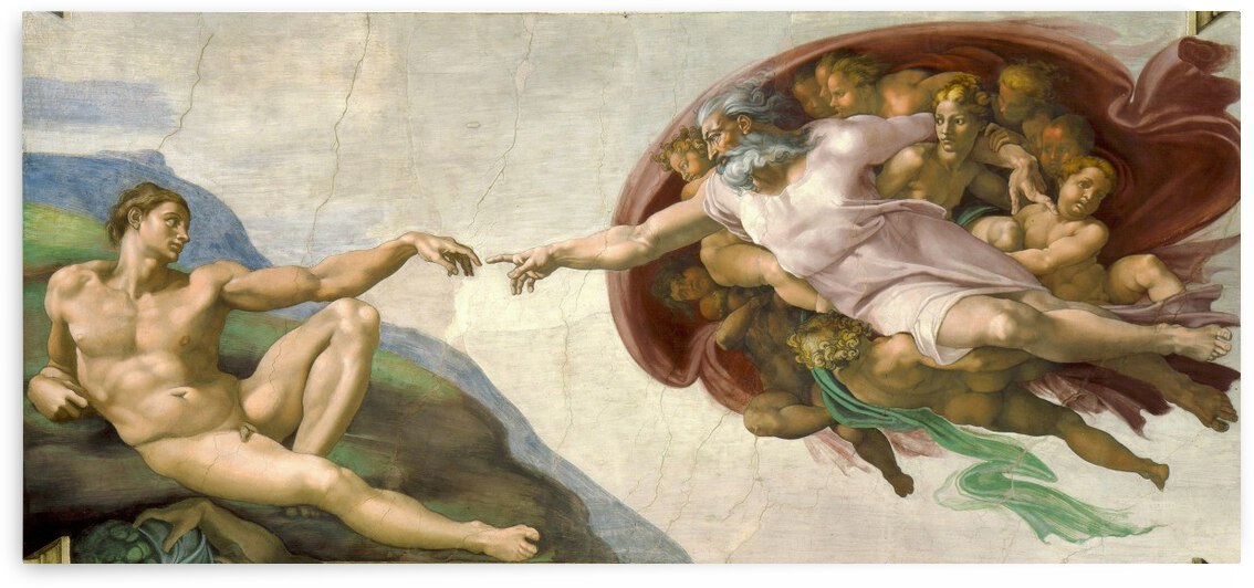 Michelangelo: The Creation Of Adam HD 300ppi by Stock Photography