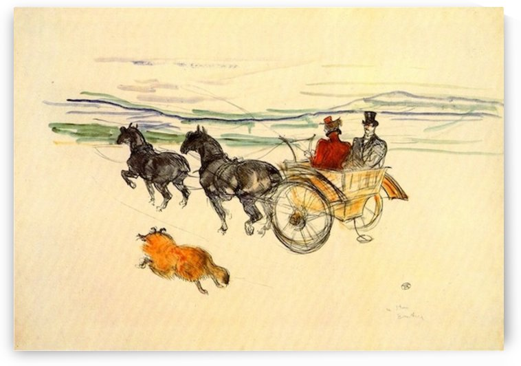 Carriage by Toulouse-Lautrec by Toulouse-Lautrec