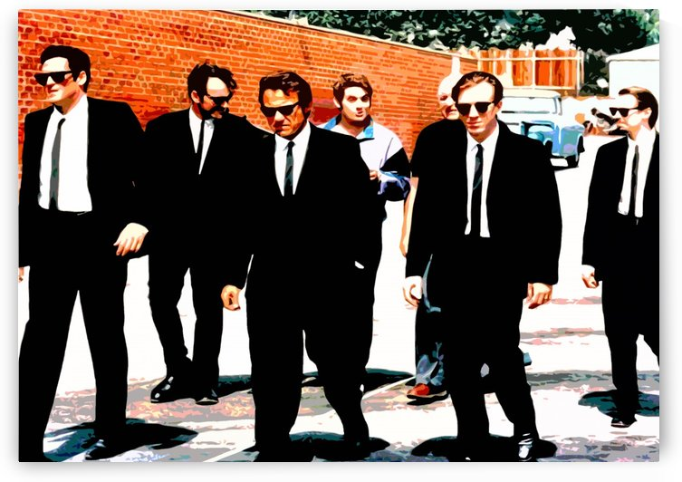 reservoir dogs bw by Skinuporshutup